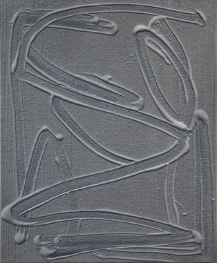lines (gray), 2019, Acryl auf Leinwand,