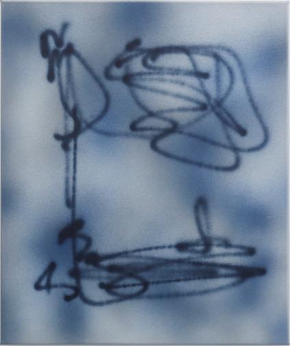Flower Drawing Study Blue