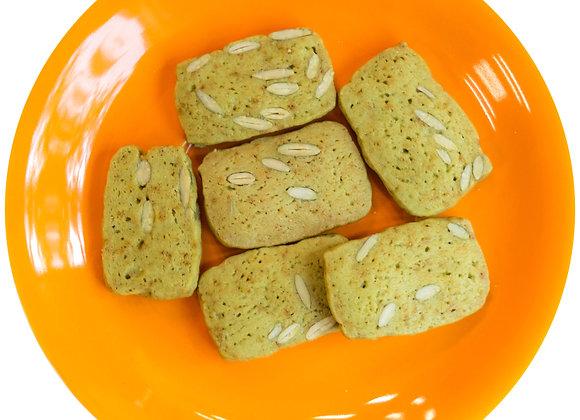 Matcha Pumpkin Seed Cookies