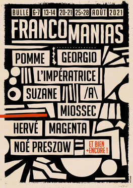 Francomanias 2021: la programmation au complet