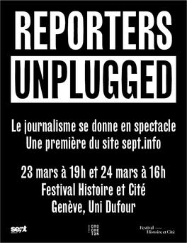 Le journalisme se donne en spectacle le 23 mars 2018 à l'Uni Dufour de Genève