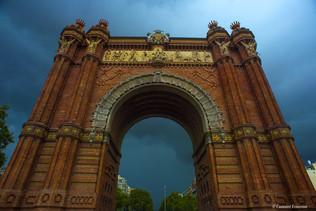 Barcelona Arc de Triomf_(juste_avant_l'o