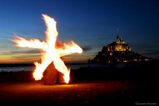 Mont St-Michel (pentagone de feux).JPG