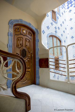 Barcelona casa Battlo (porte de chambre)