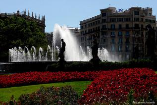 Barcelona Plazza de Catalunya (fontaine