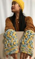 Model: Fingerless Gloves, Hat and Earrings