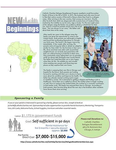 Refugee Resettlement Winter 2021 Newslet