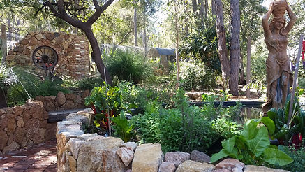 Permaculture Garden with Pond