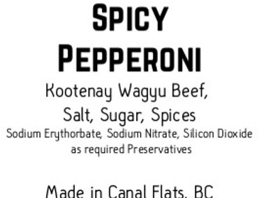 Spicy Wagyu Pepperoni Snacks 8 pack