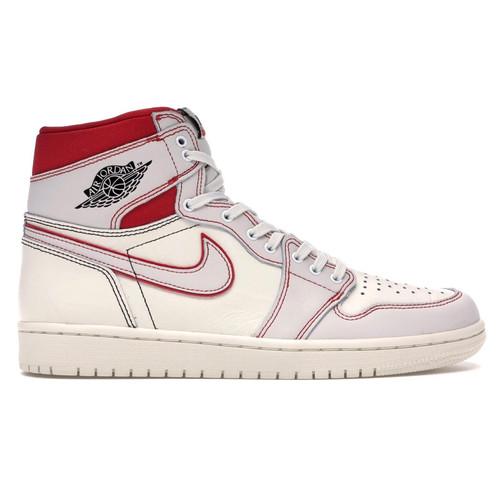 635a5a16a0d Nike Air Jordan 1 Retro High OG - Sail/ University Red