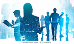 silhouettes-business-people-working-toge