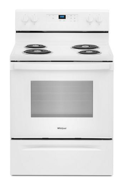Whirlpool 4.8 Cubic Coil Top Range