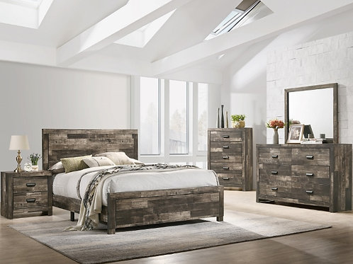 7PC Rustic Tallulah Queen Bedroom