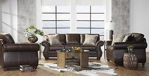 Hughes Ridgeline Brownie Sofa & Loveseat
