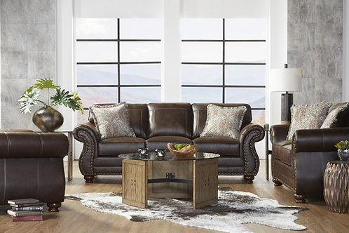 Hughes Ridgeline Brownie Sofa & Loveseat