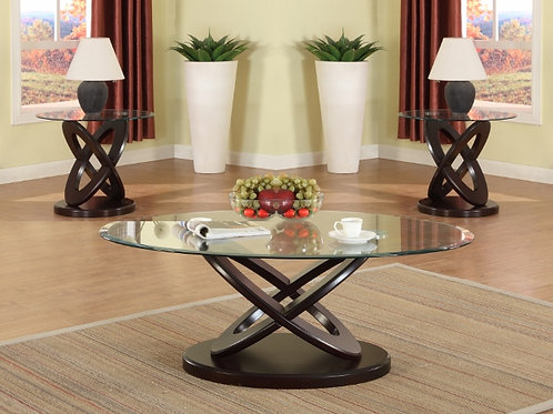 3PC CYCLONE Glass Table Set