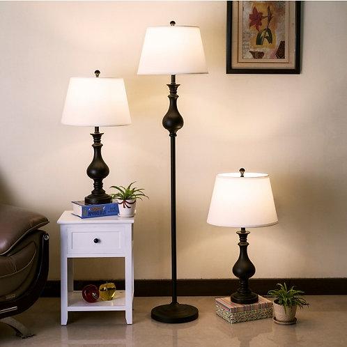 3PC DAYA Lamp Set & Floor Lamp