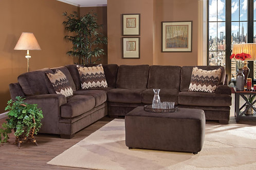 Hughes Olympian Chocolate Sectional