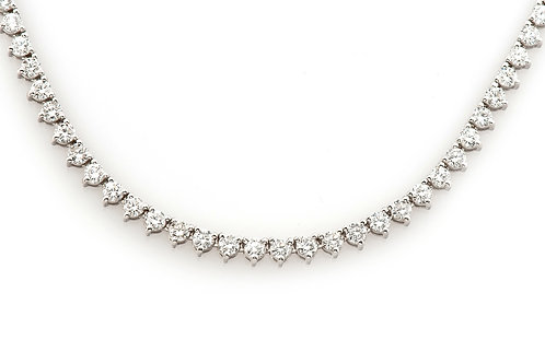 18 KT WHITE GOLD ROUND BRILLIANT CUT 14.15 CTW DIAMOND CHAIN