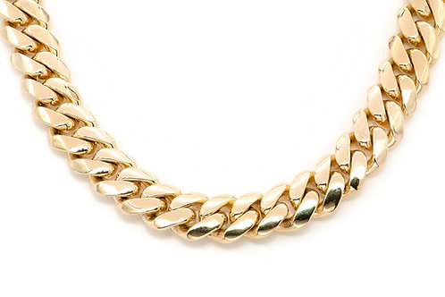 15 MM 10 KT YELLOW GOLD MIAMI CUBAN CHAIN