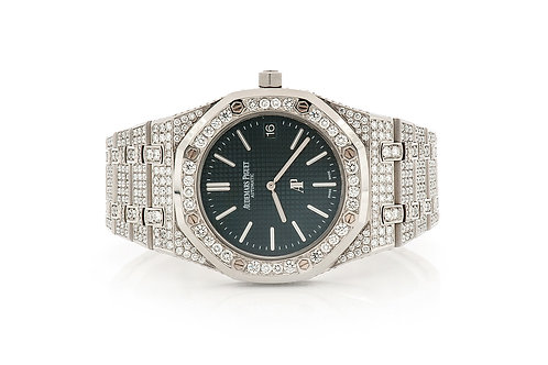 39MM Royal Oak14.50ctw FULLY ICED OUT WATCH