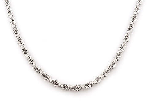 14 KT WHITE GOLD 4.50 MM ROPE CHAIN