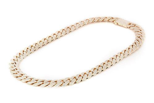 "60.00ctw Diamond Miami Cuban Chain, 14K Yellow Gold (34"")"