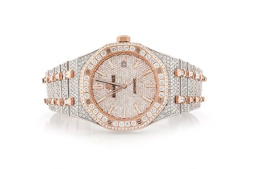 ROYAL OAK FULLY ICED-OUT WATCH