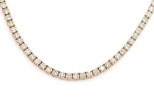 14 KT YELLOW GOLD ROUND BRILLIANT CUT 36.38 CTW DIAMOND CHAIN