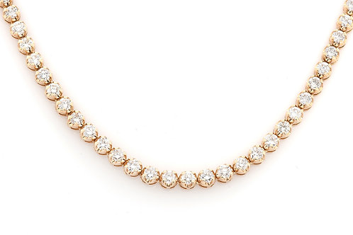 18 KT YELLOW GOLD SOLITAIRE 22.37CTW DIAMOND CHAIN