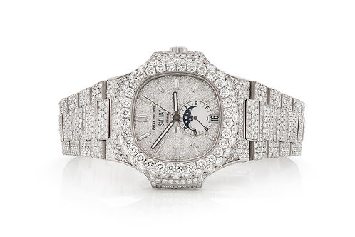 MOON 28.71CTW DIAMONDS FULLY ICED OUT DIAMOND WATCH