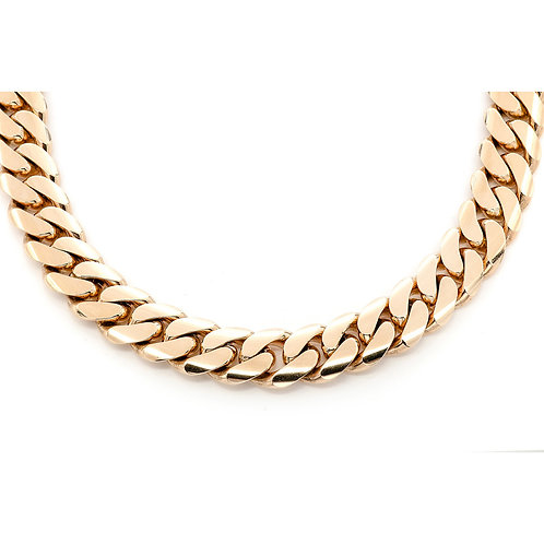 "18 MM 14 KT YELLOW GOLD MIAMI CUBAN CHAIN(30"")"