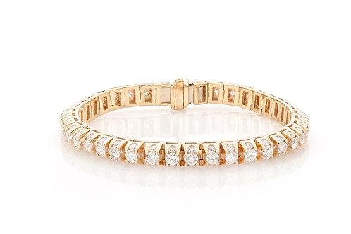 14 KT YELLOW GOLD 10.25 CTW PYRAMID DIAMOND BRACELET