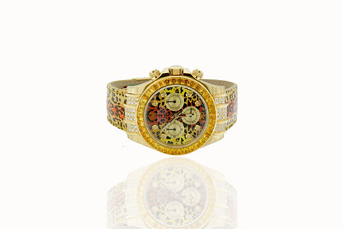 41 MM YELLOW GOLD DATONA LETHER STRAP