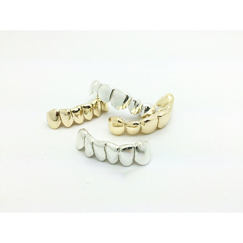 CUSTOM 6 PIECE DEEP CUTS TOP OR BOTTOM SLUGZ PULL OUT GRILLZ