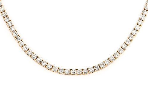 14 KT YELLOW GOLD ROUND BRILLIANT CUT 33.45 DIAMOND CHAIN