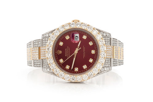 41 MM 14 KT YELOW GOLD TWOTONE DATEJUST II 21.55 CTW DIAMONDS