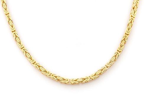 4.00 MM 14 KT YELLOW GOLD BYZANTINE CHAIN