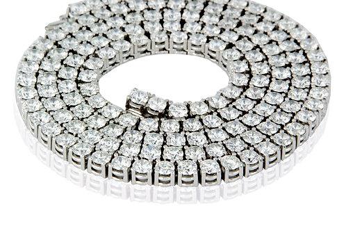 14 KT WHITE GOLD 46.20 CTW DIAMONDS CELEBRITY DIAMOND INLINE NECK CHAIN