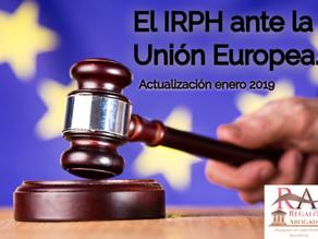 JUICIO DEL IRPH ANTE LA JUSTICIA EUROPEA. Actualización: El IRPH ante la Justicia Europea.