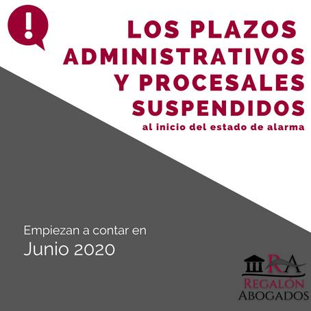ALZAMIENTO DE LA SUSPENSIÓN DE LOS PLAZOS LEGALES Y ADMINISTRATIVOS