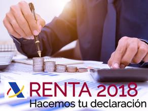 DOCUMENTACIÓN RENTA 2018