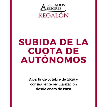 SUBIDA DE LA CUOTA DE AUTÓNOMOS
