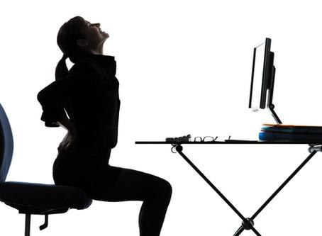 坐姿不正確,腰背問題易衍生