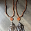 Thumbnail: Wooden Tassel Necklaces with monogram