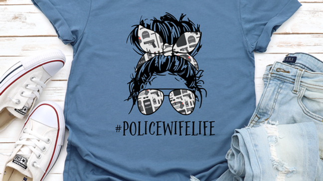 Police Wife Life Shirt- Free shipping