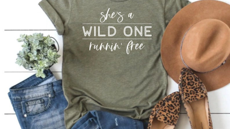 She's a wild one, running free Tshirt- Country Music Tee