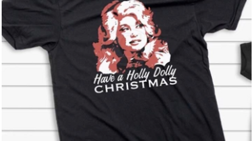 Have A Holly Dolly Christmas- Simple Design- Free Shipping