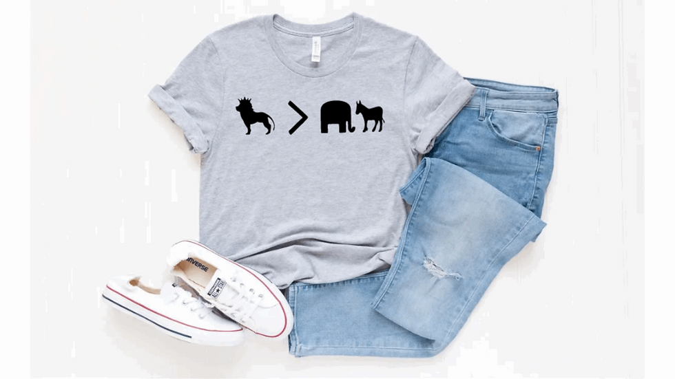Lion is Greater than Elephant & Donkey Shirt