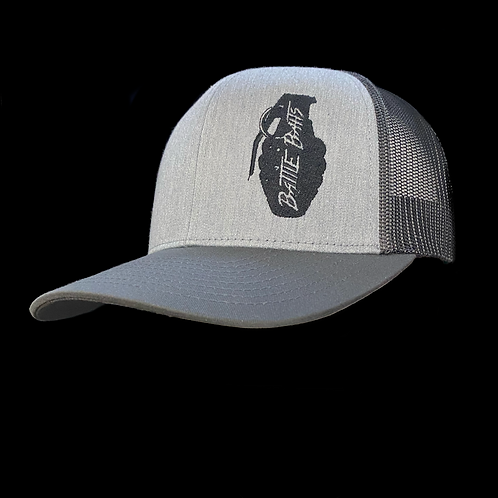 Heather Gray Tri-Color Battle Baits Stitched Logo Hat